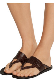 Ancient Greek Sandals Zenobia croc-effect leather sandals