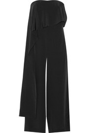 Draped silk jumpsuit