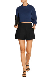 Sable crepe shorts