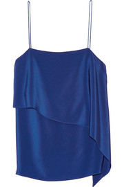 Layered silk crepe de chine camisole