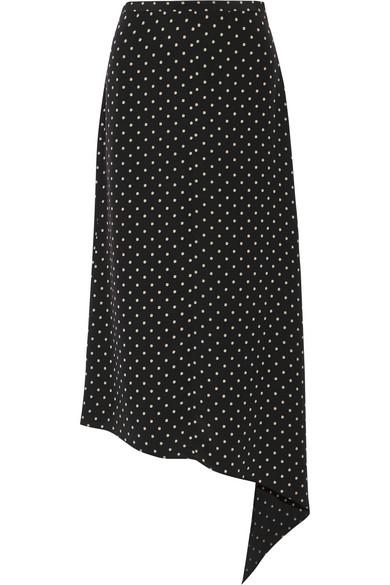 Tibi. Diffusion polka-dot silk crepe de chine skirt