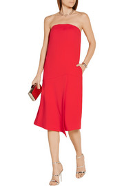 Strapless stretch-crepe dress