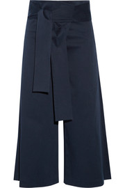 Barrett cropped cotton-blend twill wide-leg pants