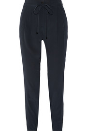 Tibi Silk crepe de chine tapered pants