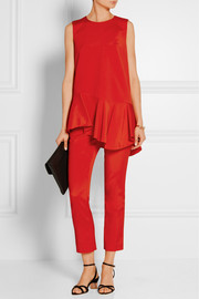 Tibi Stretch-faille peplum tunic