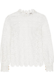 Guipure lace top