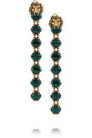 Gucci Gold-plated crystal clip earrings