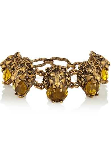 Gucci - Gold-tone Crystal Bracelet