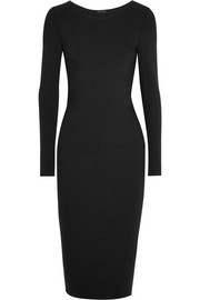 Essentials draped stretch-jersey dress