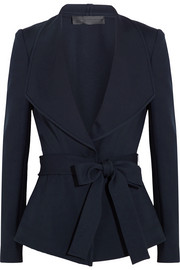 Donna Karan New York Belted crepe jacket