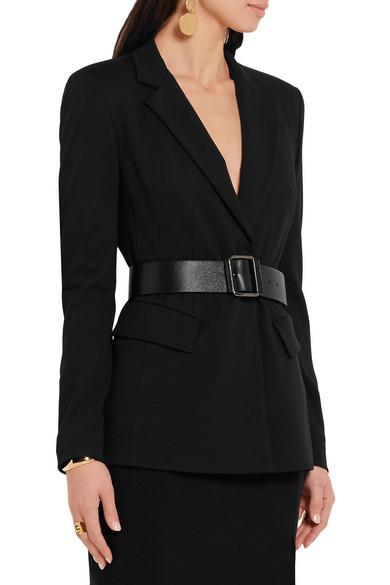 reputable site aa4c5 edc52 Essentials belted ponte-jersey blazer