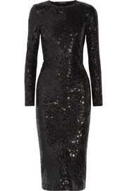 Sequined stretch-woven dress