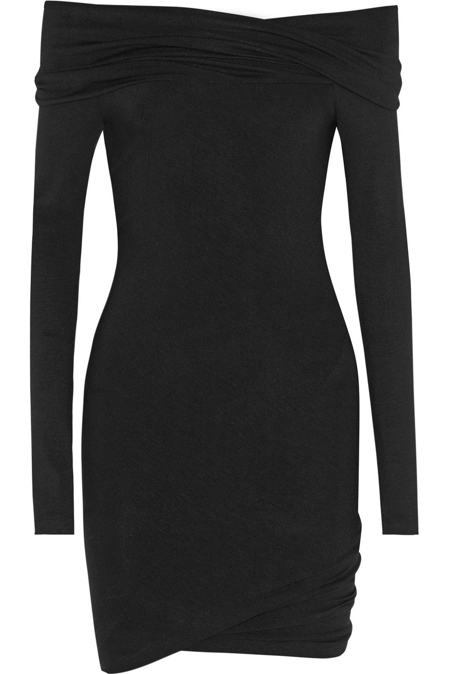 Off-the-Shoulder Stretch-Jersey Tunic, Donna Karan New York, Black, Women's, Size: L