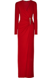 Donna Karan New York Ruched stretch-jersey gown