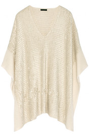 Donna Karan New York Silk and cashmere-blend chenille poncho
