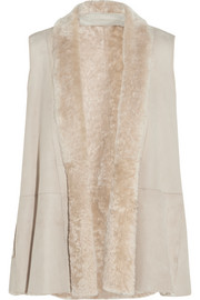 Donna Karan New York Shearling vest