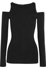 Donna Karan New York Essentials cutout stretch-jersey top