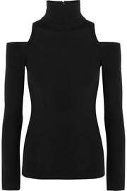 Cutout cashmere-blend turtleneck sweater