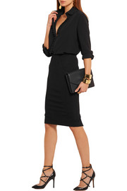 Stretch-jersey pencil skirt