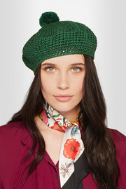 Gucci Crocheted cotton beret