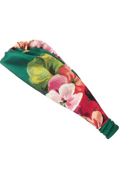 d99079103d4 Gucci. Floral-print duchesse-silk headband