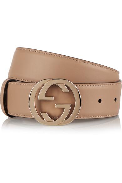 Gucci - Leather Belt - Beige