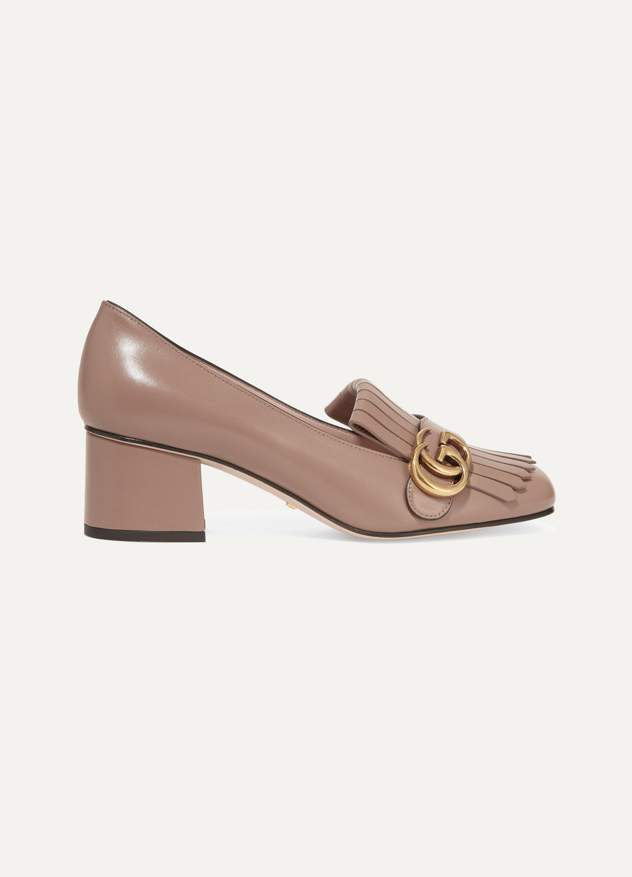 Gucci Fringed leather loafers