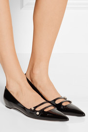 Gucci Patent-leather point-toe flats