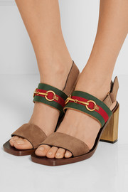 Horsebit-detailed suede sandals