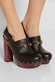 Gucci Amstel horsebit-detailed leather clogs