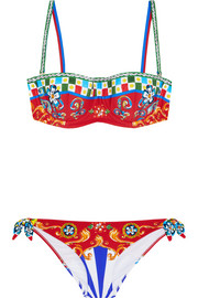 Carretto printed underwired bikini