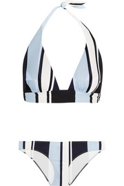 Striped halterneck bikini