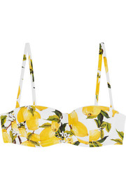 Printed underwired bikini top