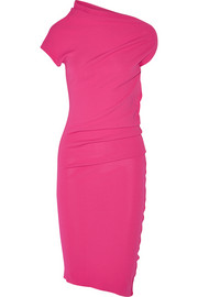 Asymmetric stretch-jersey dress