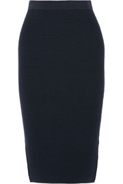 Textured stretch-knit pencil skirt