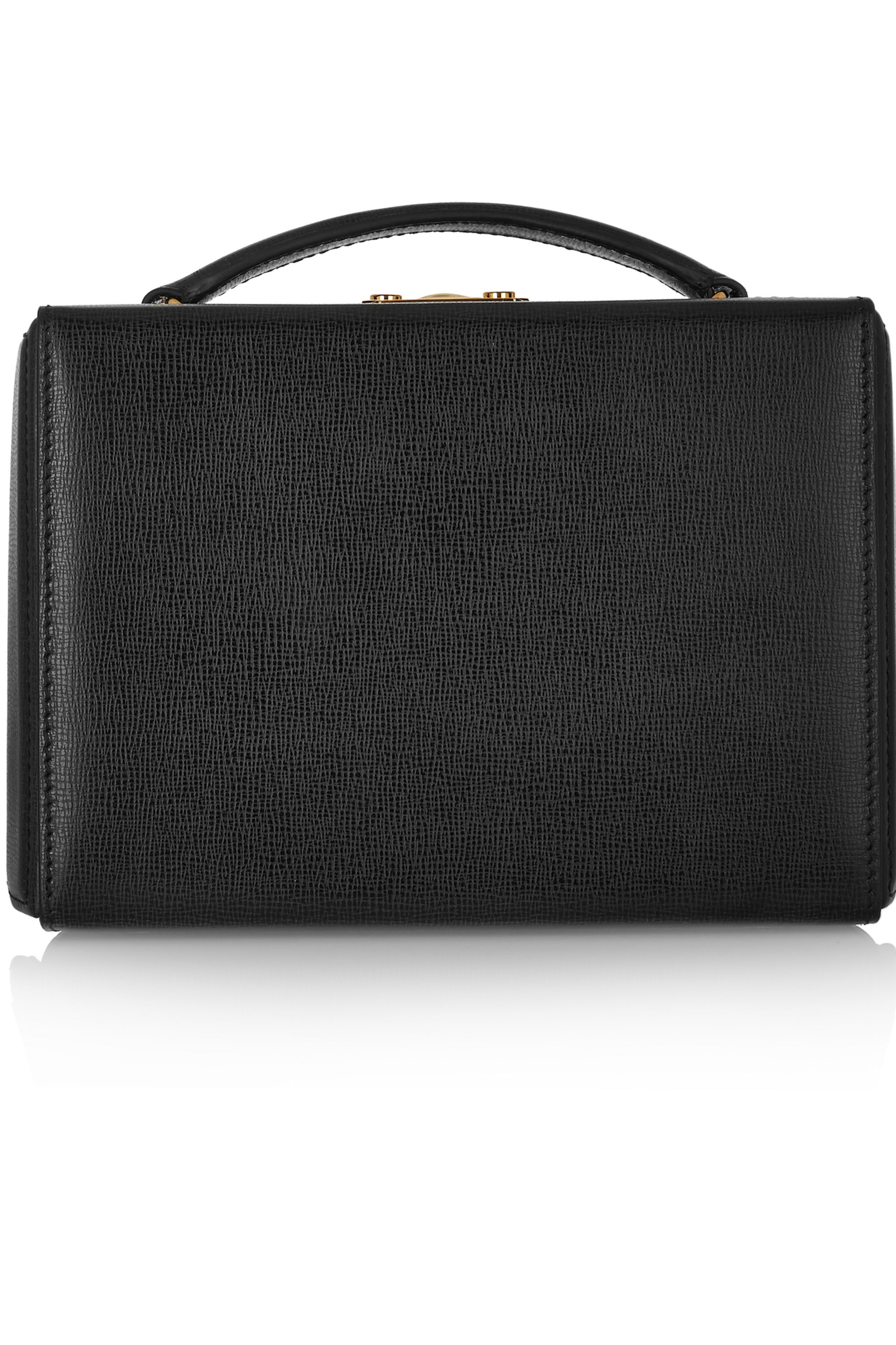 Mark Cross Grace small textured-leather shoulder bag