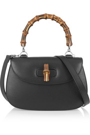 Bamboo Classic textured-leather shoulder bag