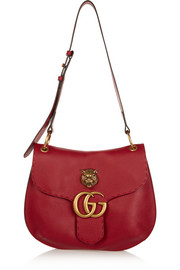 GG Marmont textured-leather shoulder bag