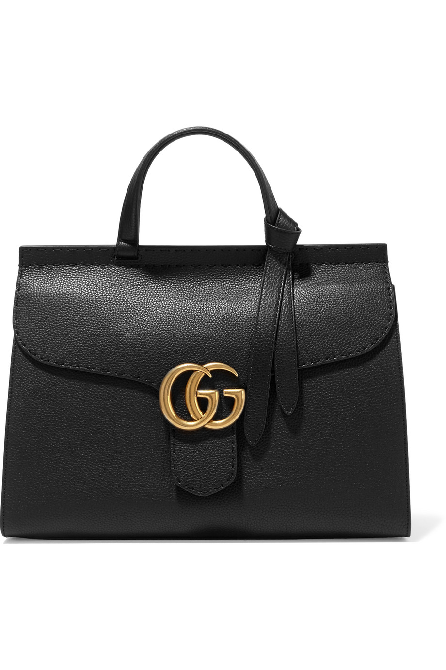 Gucci GG Marmont Textured-Leather Tote, Black, Women's