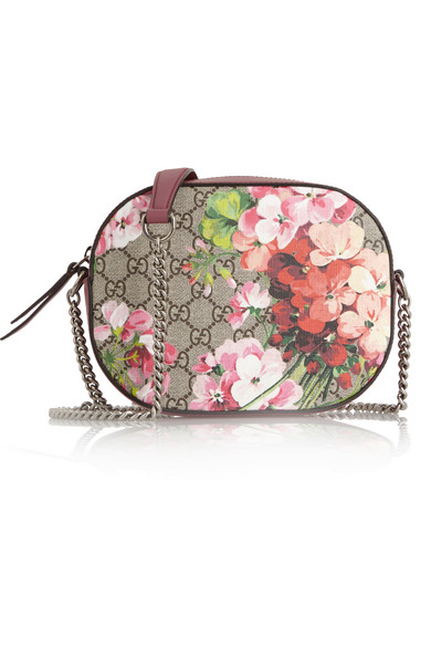7ebad0970f0b83 Gucci. Blooms GG Supreme leather-trimmed printed coated-canvas shoulder bag