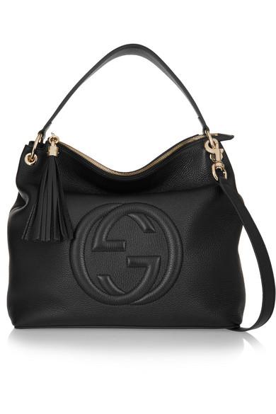 Gucci | Soho Hobo textured-leather shoulder bag | NET-A-PORTER.COM