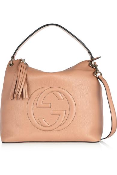 Gucci - Soho Hobo Large Textured-leather Shoulder Bag - Sand