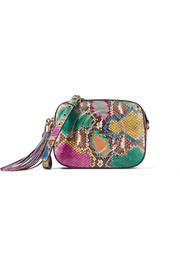 Gucci Soho Disco leather-trimmed python shoulder bag