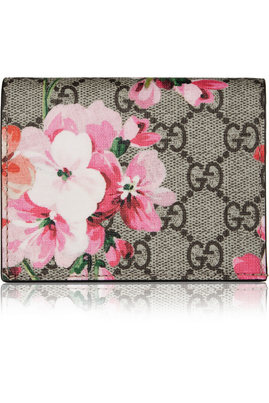 Gucci GG Blooms Floral-Print Canvas Cardholder, Pink, Women's, Size: One Size