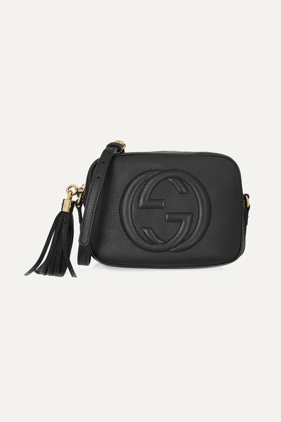 Gucci Soho Disco Textured-Leather Shoulder Bag, Black, Women's