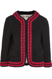 Cropped bouclé-tweed jacket