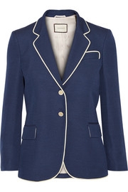 Gucci Embellished silk and wool-blend blazer