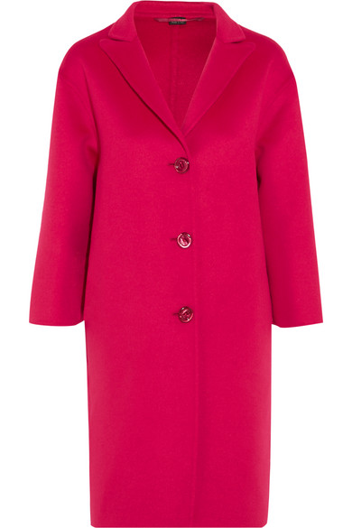 gucci female 243279 gucci oversized wool and angorablend coat pink