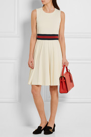 Gucci Pleated gabardine mini dress