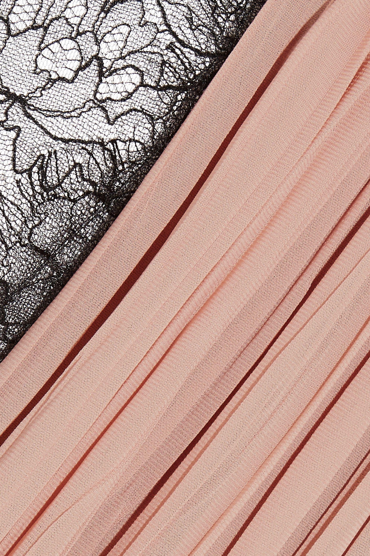 Gucci Robe en crêpe plissée à empiècements en dentelle